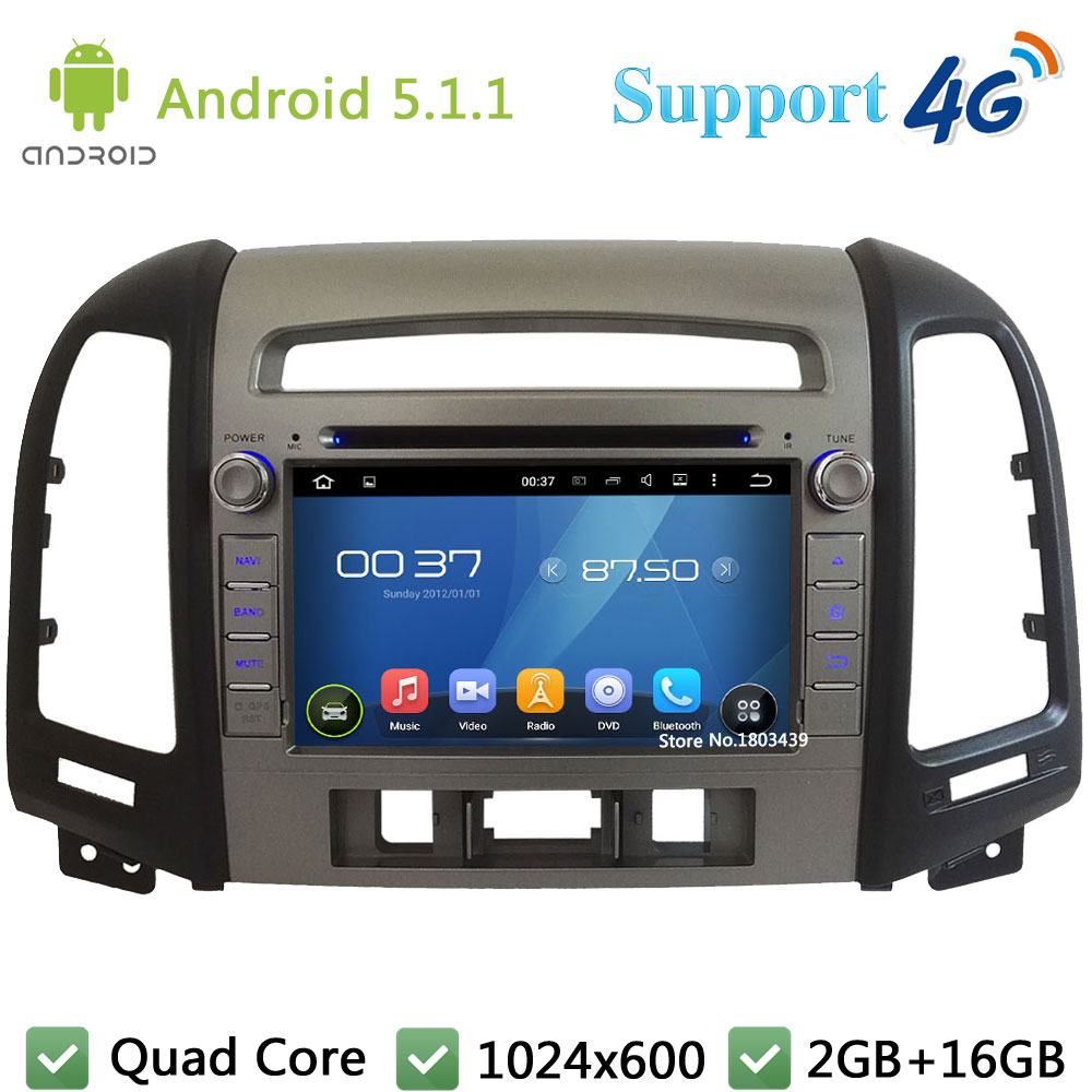 Quad Core 1024 600 font b Android b font 5 1 1 Car Multimedia DVD Player