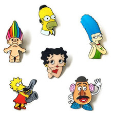 DIY On Collar and Hat Cute Cartoon Character Brooch Corsage Pins Decorated Jewelry For Women Gift