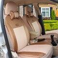 (Delantero y Trasero) cubierta de asiento de coche Universal para SEAT Cordoba Ibiza LEON Toledo Marbella Terra RONDA accesorios del coche etiqueta engomada del coche