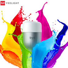 Yeelight lâmpada led inteligente, wi fi, controle remoto, rgb, luzes led para casa, ajustar o brilho, lâmpada led, frete rápido