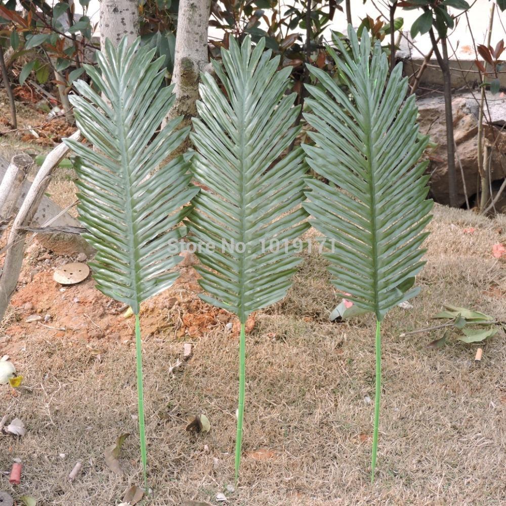 66cm 20pcs Artificial Silk Sago Palm Coconut Plant Tree Branch Wedding Home Church Office Furniture Decor Fake Foliage Green