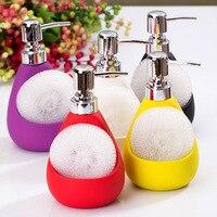 Fashion keramische handdesinfecterend lotion badkamer pomp hoofd douchegel fles paars kleur zeepdispenser gratis verzending