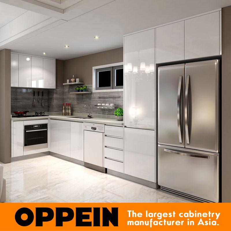 2016 Australia Project Melamine Finish Wooden Kitchen
