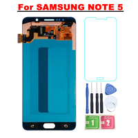 Super AMOLED LCD For SAMSUNG GALAXY Note 5 LCD N9200 N920F N920G Display Touch Screen Digitizer Assembly Replacement For note5