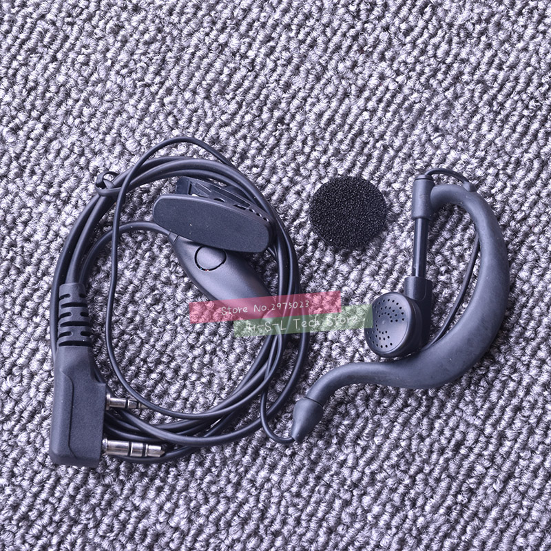 Earphone For Bell Walkie Talkie K Type PTT Headset With Microphone For Handheld Two Way Radio For BaoFeng UV-82 UV-8D UV5RE 888S