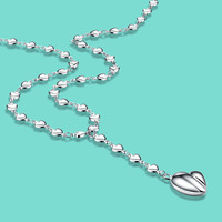 Women S 925 Sterling Silver Necklace Cute Heart Pendant Fashion Charm Jewelry Female Clavicle Necklace Valentine