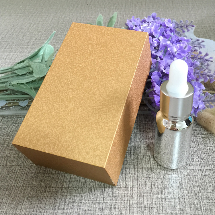 4pcs 10ml vacuum plating silver empty  dropper bottle With wooden box,glass essential oil bottle, perfume subpackage jar