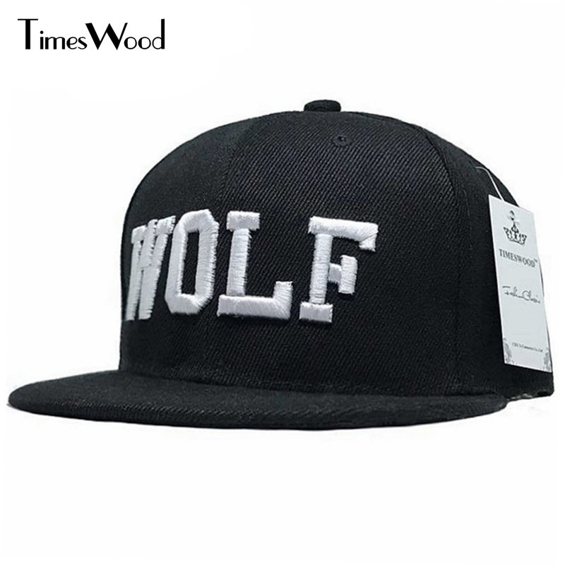 3 Colors 2017 New Hot Embroidery Wolf Cap Active Flat Along Exo Snapback Hat Baseball Hip-hop Peaked Sun Caps Bone For Men Women skullies beanies mink mink wool hat hat lady warm winter knight peaked cap cap peaked cap