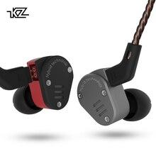 KZ ZSA металлические наушники арматурный динамический гибрид в ухо HIFI бас DJ спортивные наушники для контроля звучания наушники с шумоподавлением