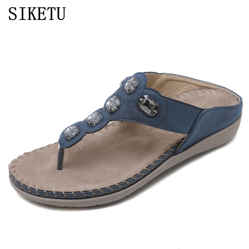 SIKETU 2018 Summer new Women slippers Slip-on Casual Female Sandals Beach Flip Flops Lady Slippers Women Shoes Plus Size women slippers summer beach shoes rivets flip flops women slippers sexy platform sandals women s non slip shoes plus size 36 42