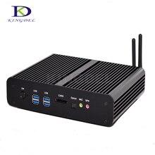 Лучшая цена Безвентиляторный intel core i7 5-й 5500U/5550U mini itx PC 2 * HDMI + SPDIF + 4 * USB 3.0 Dual LAN компьютера