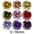 5mm 6mm 8mm (3~16mm) AAAAA Round Orange , Black , Olive , Purple, Pink ,Yellow Cubic Zirconia Stone Loose
