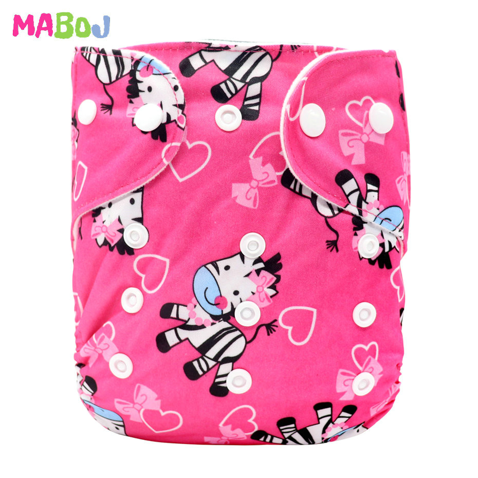 MABOJ Diaper Baby Pocket Diaper Washable Cloth Diapers Reusable Nappies Cover Newborn Waterproof Girl Boy Bebe Nappy Wholesale - Цвет: PD5-5-15