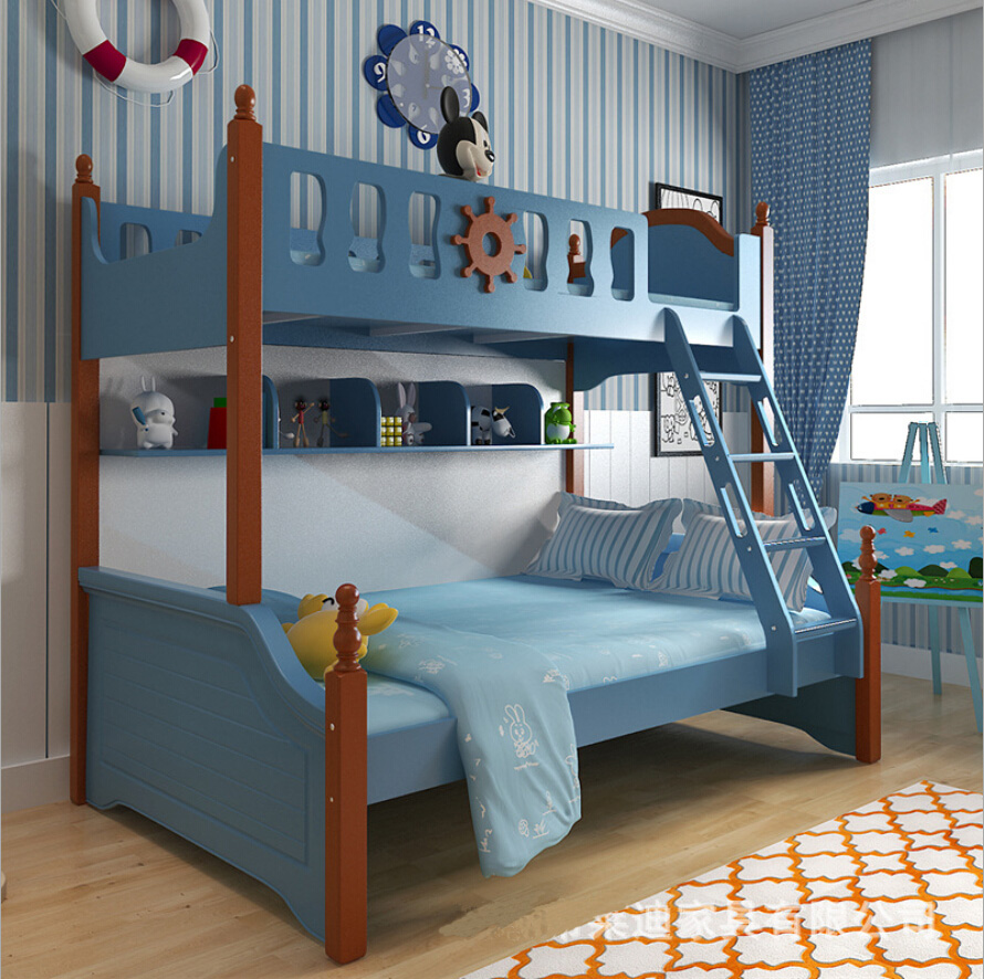 Webetop mediterranean style furniture cartoon bunk bed for kids bedroom household furniture composite beds mother children bed in beds from furniture on