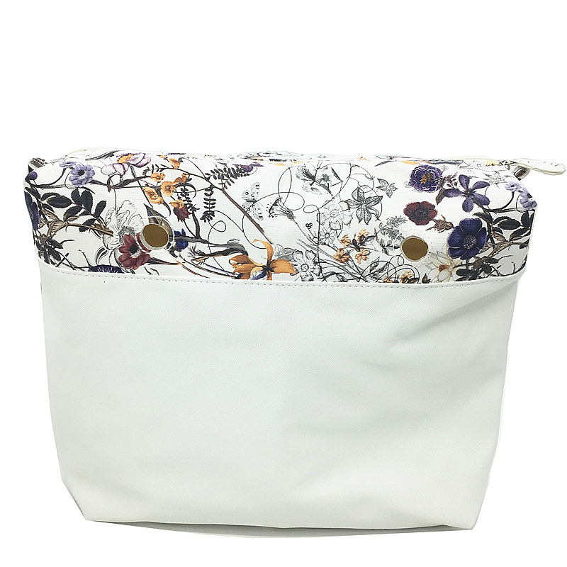 2017 good quality New arrival Canvas Inner lining Interior Zipper Pocket for obag ambag organizera suitable for Silicone handbag new colorful cartoon floral insert lining for o chic ochic canvas waterproof inner pocket for obag women handbag
