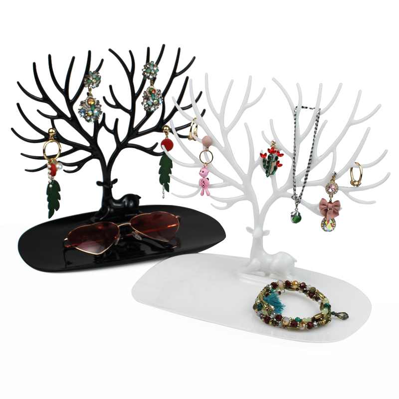 Little Deer Earrings Necklace Ring Pendant Bracelet Jewelry Display Stand Tray Tree Storage Racks Jewelry Organizer Holde