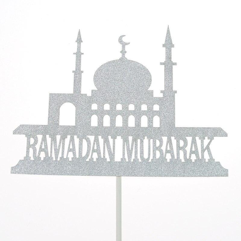 Image 4 - Eid Mubarak Cake Toppers Flags Glitter Kids Happy Birthday  Cupcake Topper Wedding Baby Shower Party Ramadan Muslim Baking DIYCake  Decorating Supplies