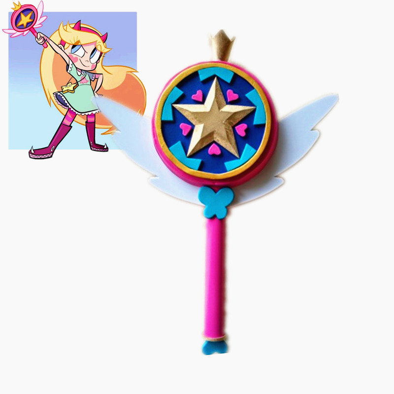 Star vs. the Forces of Evil Princess Magic Wand Stick Hand Cosplay Prop Girl Toy Halloween the power of five evil star