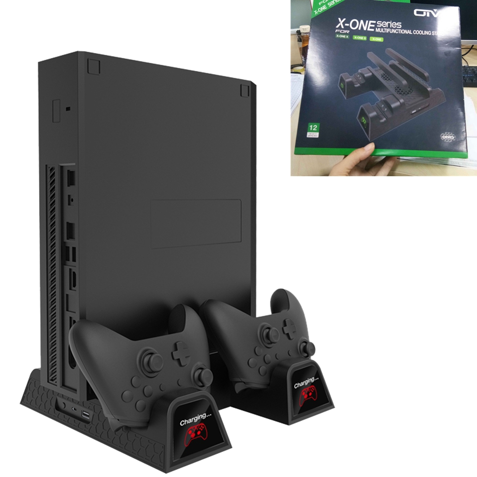 все цены на Gamepad Switch Joystick Charging Dock Charger With Cooling Fan Stand for X-ONE Series for XBOX X-ON Black Color онлайн