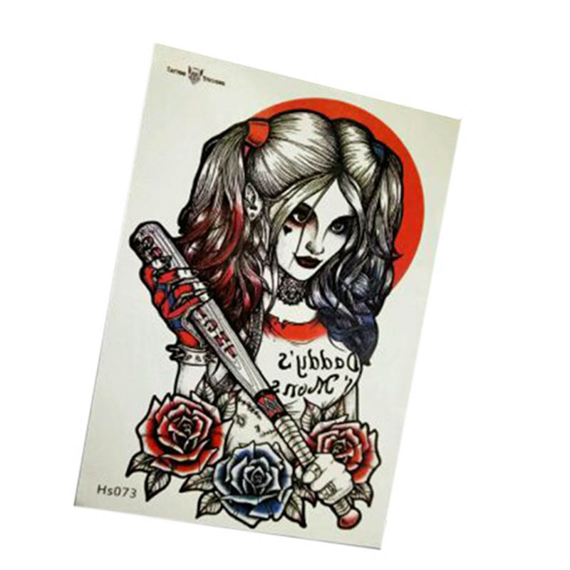 Aliexpress.com Acheter 9 Types Commando Suicide Harley Quinn Joker Cosplay  Petit Laid De Tatouage Autocollant Enfants Classique Fun Halloween Party  Cadeaux