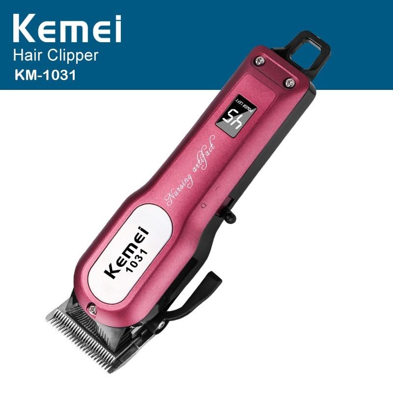Kemei KM - 1031 Professional Hair Clipper Electric Hair Trimmer Powerful Hair Shaving Cutting Machine Beard Electric Razor