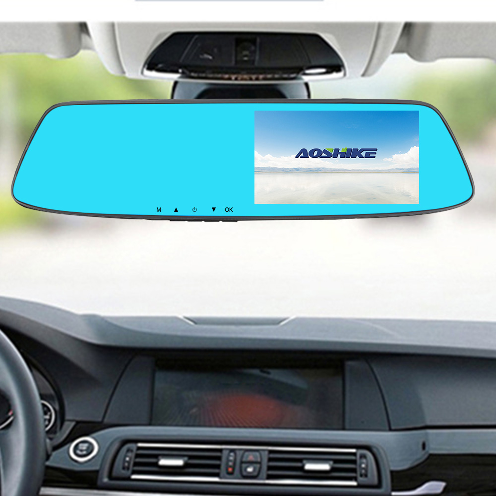 Image 5 - AOSHIKE 4.7 Inch Driving Recorder Car Rearview Mirror Recorder Full HD 1080P Dual Recording Display Car DVR Vehicle Camera-in DVR/Dash Camera from Automobiles & Motorcycles