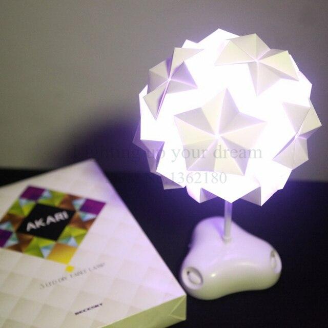 New Night Light Diy Iq Creative Lamp Colorful Origami Lamp Puzzle