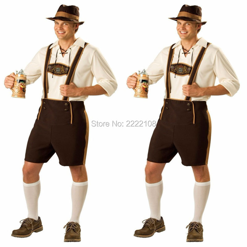 Cheap Hot German Beer Man and Women Costume Adult Oktoberfest Costume And Mens Cosplay halloween Costumes plus disfraces adultos