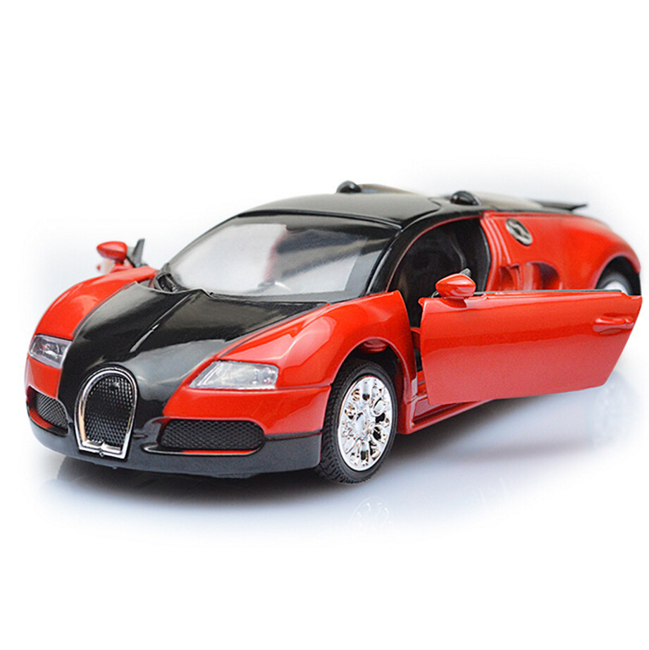 hot 1 36 scale wheels diecast super sports cars bugatti veyron metal model pull back alloy toys. Black Bedroom Furniture Sets. Home Design Ideas