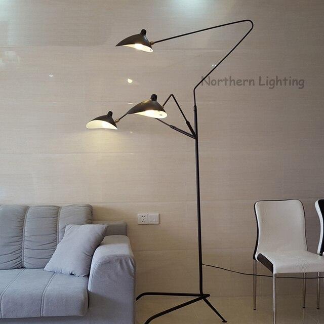 Moderne Creatieve Ijzer Aluminium schaduw Drie Armen Vloerlamp Loft ...