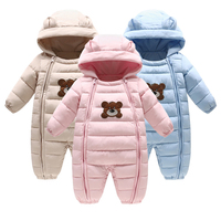 Winter Newborn Cartoon bear Infant Baby girls Clothes Fleece Clothing Romper Thick warm Baby Clothes Cotton padded Overalls