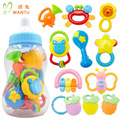 12 pieces/sets bed bell rattles gutta  bottle fitted newborn baby Early Learning Toys