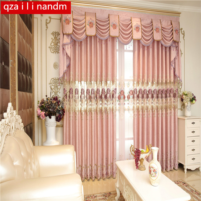 Buy european style window valance luxury - European style curtains for living room ...