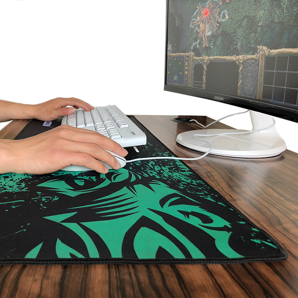Hot Sales Green Lion Large <font><b>Gaming</b></font> <font><b>Mouse</b></font> Pad Lockedge <font><b>Mouse</b></font> Mat For Laptop Computer Desk Pad <font><b>Keyboard</b></font> Mat <font><b>Mousepad</b></font> for Gamer image