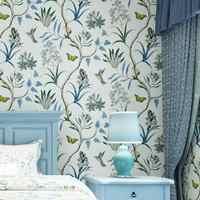 Amerikanischen Pastoralen Ländlichen Blume Brids Tapete Wandmalereien Schöne Schmetterling Floral Wand Papers Home Decor 3d Papier Peint EZ167