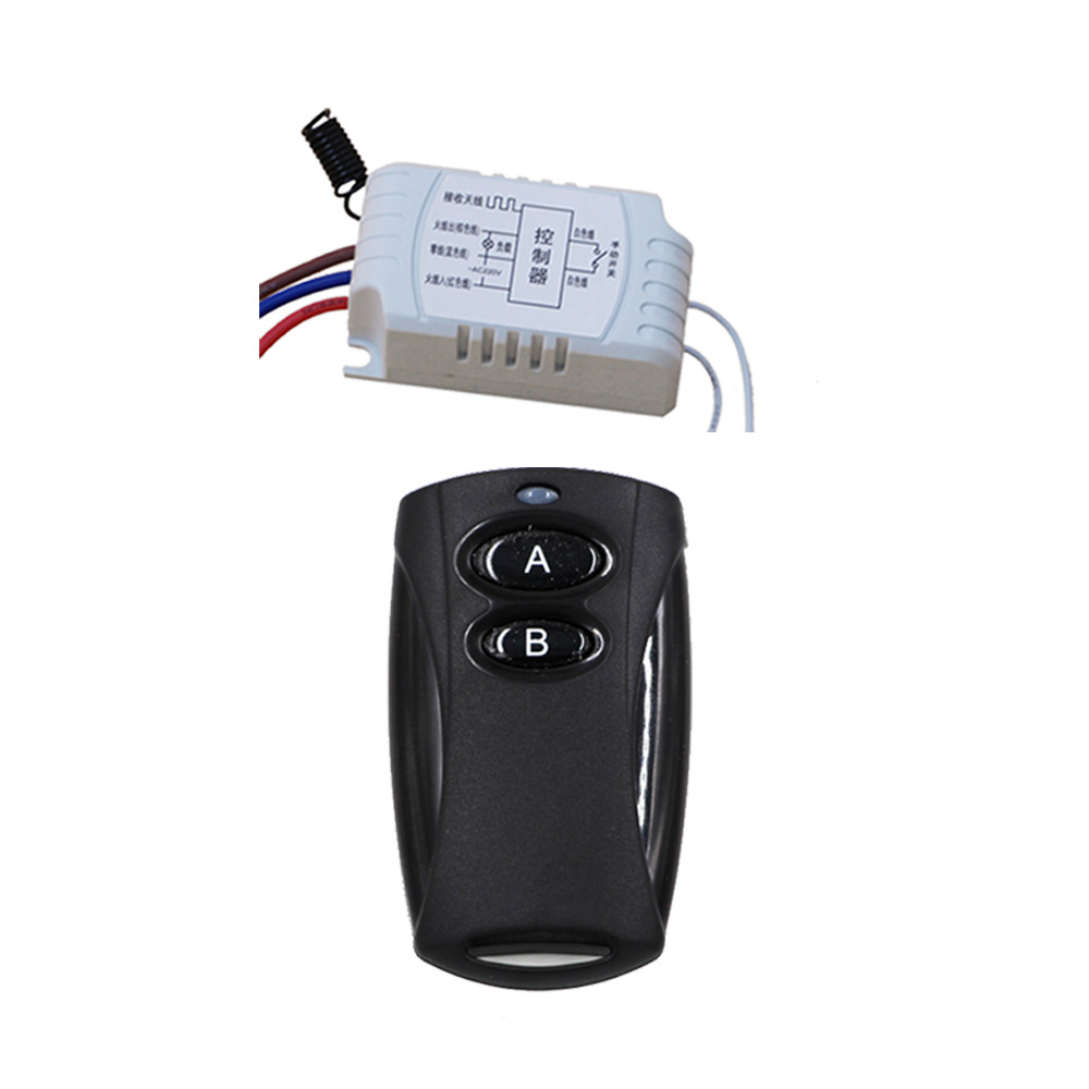 Simple and Practical AC 220v Wireless Remote Control Switch with Manual Button Receiver and Transmitter Smart Home 315MHZ wireless pager system 433 92mhz wireless restaurant table buzzer with monitor and watch receiver 3 display 42 call button