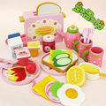 Free Shipping!Baby Toys Toast Bread Toaster Toys Wooden Pretend Play Kitchen Toys Child Play Food Set Toys Gift