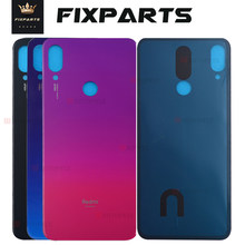 Blue for Xiaomi Redmi note 7 Battery Cover Back Glass Panel Rear Door Housing Case For Redmi note 7 pro Back battery Cover door for xiaomi redmi note 6 pro case 360 degree full body cover case for xiaomi redmi note 6 pro hybrid shockproof case glass film