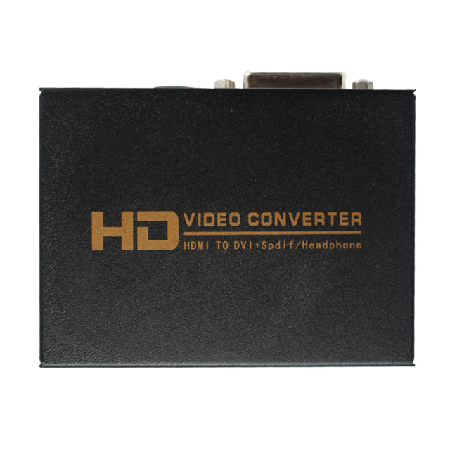 HDMI to DVI + Spdif Audio Video Converter Box Adapter Support Headphone Output for PS3 DVD + Power Adapter HDMI TO DVI Converter