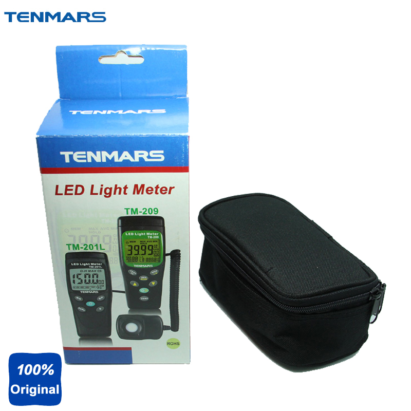 TENMARS TM202 3 1//2 LCD Display Digital Lux Meter Illuminometer Light Meter with Maximum Reading 2000