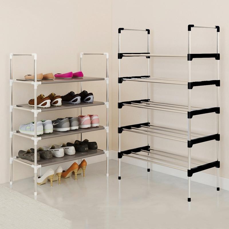Modern Minimalist Shoes Organizer Home Furniture Shoes Cabinet Assembly Shoes Closet Foldable Creative Multi-purpose Shoes Shelf