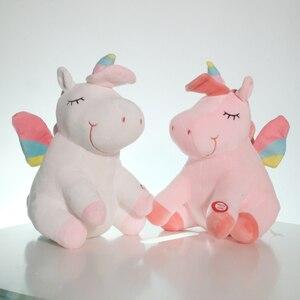 Image 5 - 25 40cm LED Unicorn Plush Toys Plush Light Up Toys Stuffed Animals Cute Pony Horse Toy Soft Doll Kids Toys Xmas Birthday Gifts