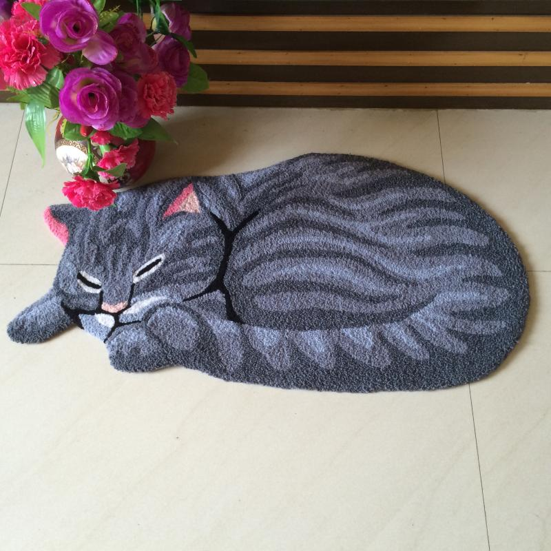 High Quality Handmade Cat Shape Washable Carpet For Cat