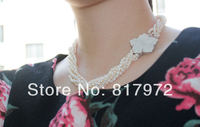 Top Real Pearl Bead Natural Pearl Inlay Cute Flower Highlight Fashion Multilayer Handmade Necklaces Women Jewelry
