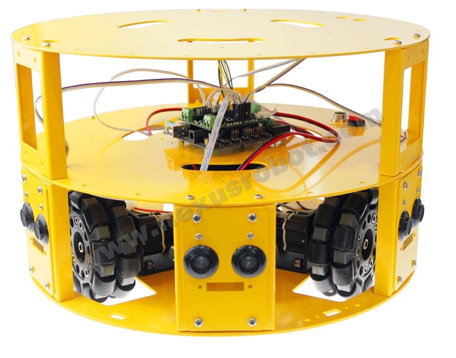 3WD 100mm Omni Wheel Arduino robotika mobil - Perlengkapan sekolah dan persediaan pelatihan - Foto 1