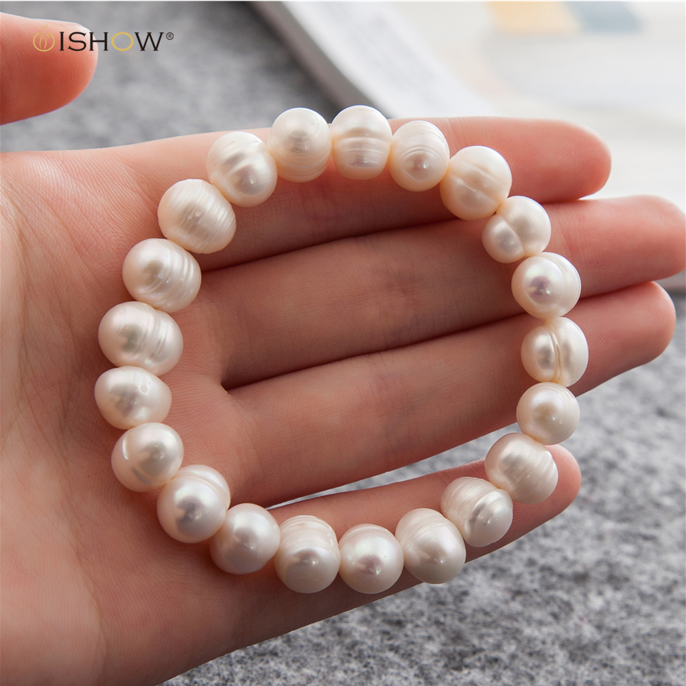 все цены на Irregular Pearl Bracelet For Women Elastic Rope Charm Bracelets & Bangles Wedding Jewelry Gift Pulseras Mujer Simulated-pearl