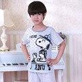 Nueva Summer Boy Pijamas Niños Pijamas de Algodón de Calidad Suave Niños Chicos Pijamas de la Ropa de Aire Acondicionado Ropa 90-165 cm
