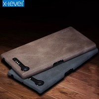 X Level Phone Case For Sony Xperia XZ Premium Luxury Vintage Slim PU Leather Back Cover
