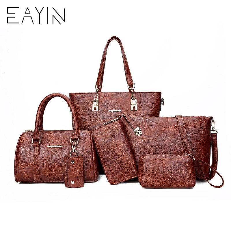 6 pièces/ensemble sac à main ensembles femmes sacs à bandoulière Designer sac à bandoulière femme grand sac fourre-tout grand luxe petit sac à main et sac à main