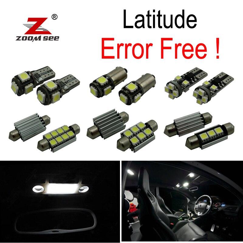 21 pz x 100% canbus Error Free Car lampadine A LED Interno della cupola della Lettura mappa Luce del tronco Kit Per La Renault Latitude (2011-2017)